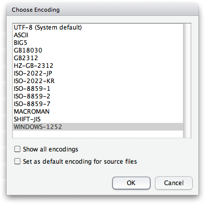 Character Encoding – RStudio Support