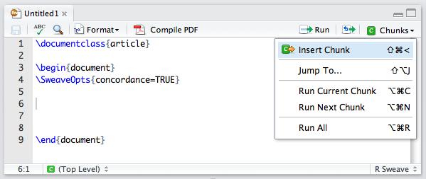 Using Sweave and knitr – RStudio Support