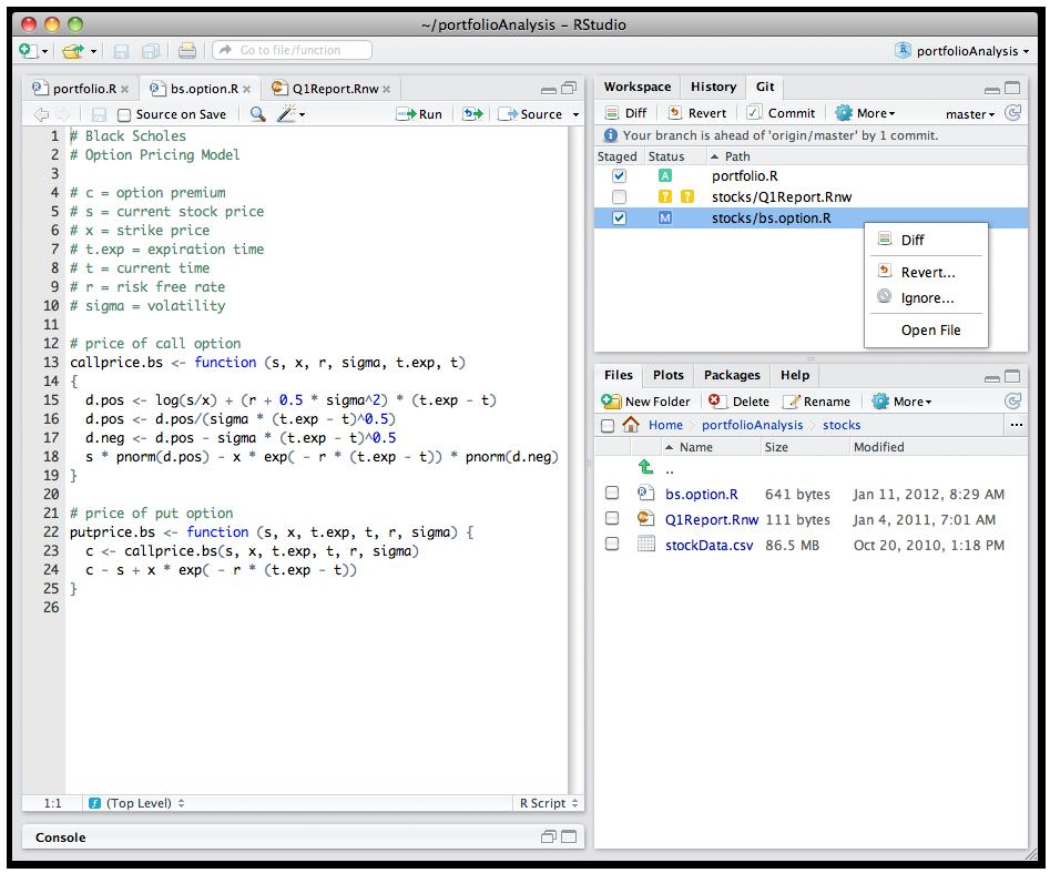 how to run r code in r studio