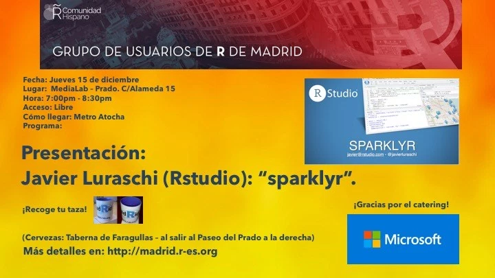 Introducing sparklyr to the Madrid R User Group